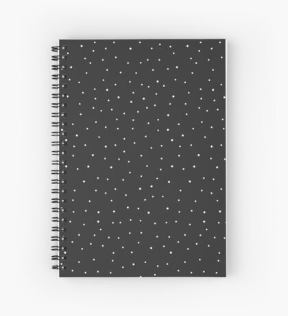 Random Dots on Black Spiral Notebook
