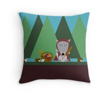wolf picnic Throw Pillow