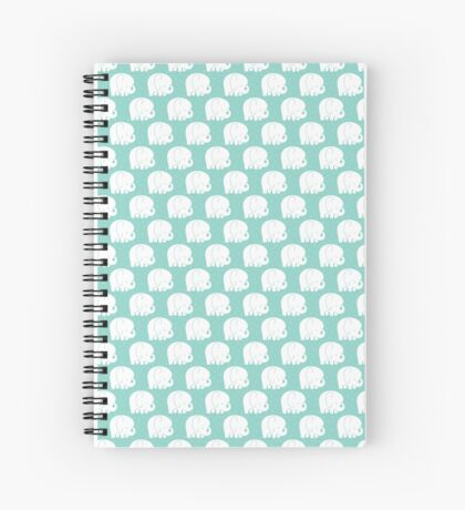 mod baby elephants mint Spiral Notebook