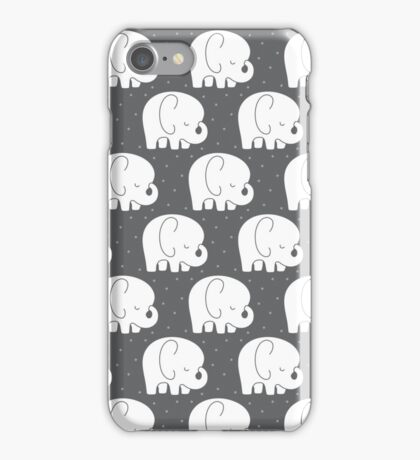 mod baby elephants grey iPhone Case/Skin