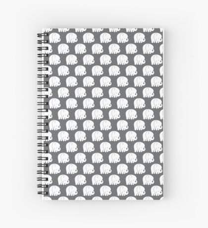 mod baby elephants grey Spiral Notebook