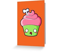 Spooky Cupcake - Zombie Greeting Card