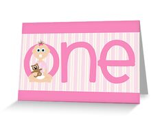 Happy Birthday - 1st Birthday, Female Greeting Card