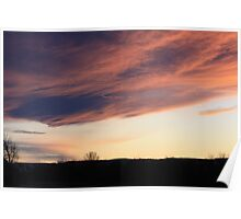 Fluffy Pink Clouds Poster