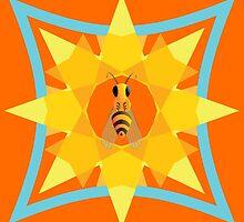 Bee, sun & flower by iradit