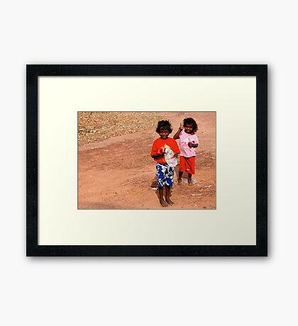 Milikapiti Girls Framed Print