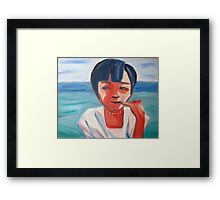 Portrait of a Vietnamese girl Framed Print