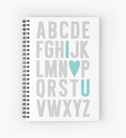 ABC I Love You Blue Spiral Notebook
