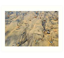 Ink-stained Beach Art Print