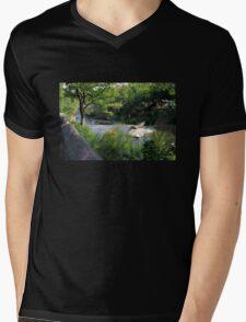 A Summer Day at the Creek Mens V-Neck T-Shirt