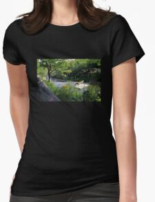 A Summer Day at the Creek Womens Fitted T-Shirt