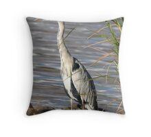 Grey Heron (Ardea cinerea) Throw Pillow