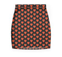 LOVE, Love Heart, Pure & Simple, RED Heart, on BLACK Pencil Skirt