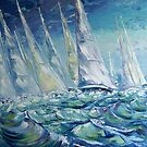 Regatta II by Claudia Hansen