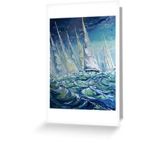 Regatta II Greeting Card