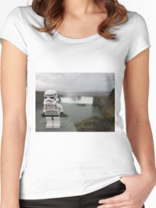 Dave Stormtrooper  Iceland Waterfall Women's Fitted Scoop T-Shirt