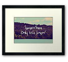 Somewhere Framed Print