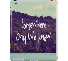 Somewhere iPad Case/Skin