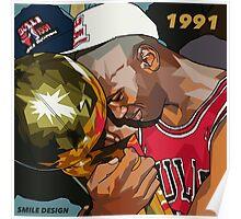 Michael Jordan 1991 - SMILE DESIGN Poster