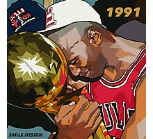 Michael Jordan 1991 - SMILE DESIGN Photographic Print
