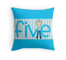 Happy Birthday - 5th Birthday, Male  Throw Pillow