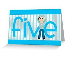Happy Birthday - 5th Birthday, Male  Greeting Card