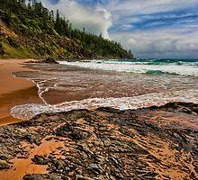 Norfolk Island coastline 1 by Jennifer Bailey