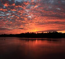 Sunrise over the wildlife refuge by kathy s gillentine