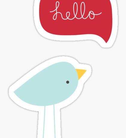 Hello Birdie Sticker