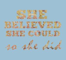 She Believed She Could  One Piece - Short Sleeve