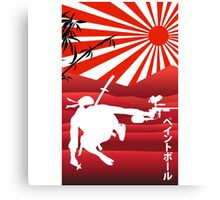 Ninja paintball Canvas Print