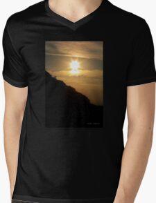 Starry Sunset Mens V-Neck T-Shirt