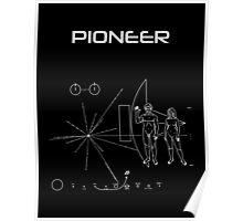 Pioneer Program - White Ink Poster