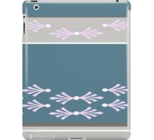 Feathers design in teal, pink and concrete grey iPad Case/Skin