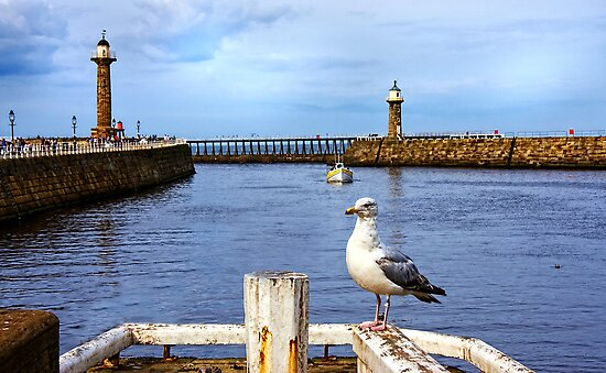 Whitby Harbour by Ray Clarke