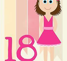 Happy Birthday - 18th Birthday, Female  by Emma Holmes