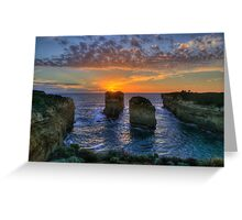Sunset Tango - Twelve Apostles, Great Ocean Road - The HDR Experience Greeting Card