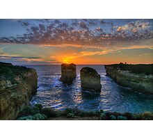 Sunset Tango - Twelve Apostles, Great Ocean Road - The HDR Experience Photographic Print