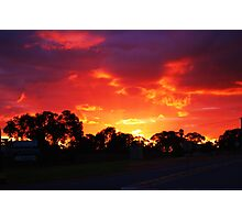 Sky Fire Photographic Print