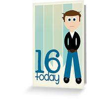 Happy Birthday - 16th Birthday, Male Greeting Card