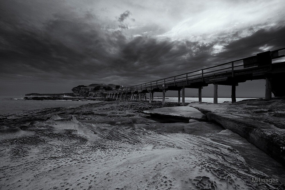 Bare Island Monochrome by MiImages