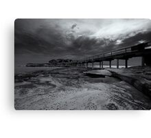 Bare Island Monochrome Canvas Print