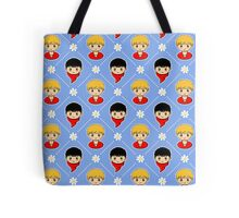 Merlin and Arthur Pattern (Daisies) Tote Bag