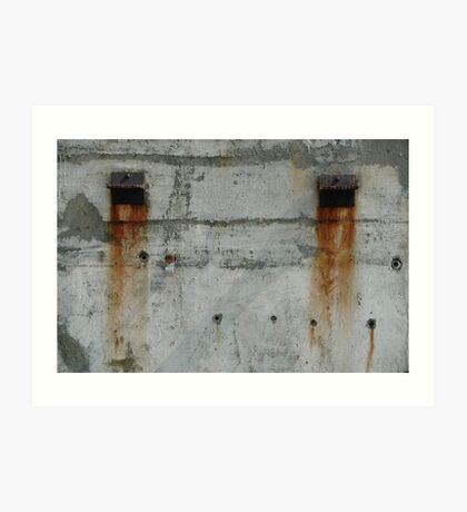 Wall with rust Art Print