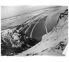 Brean Down Snow Scene Poster