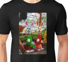 Bunnies with Baskets...Easter is Coming! Unisex T-Shirt