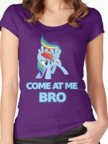 Dash At Me Bro Women's Fitted Scoop T-Shirt