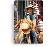 Vietnamese Hat Sales Canvas Print