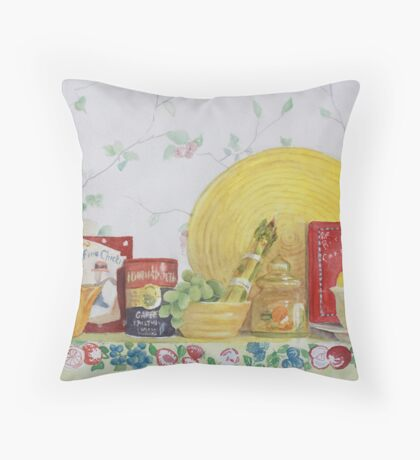 Shelf Life Throw Pillow
