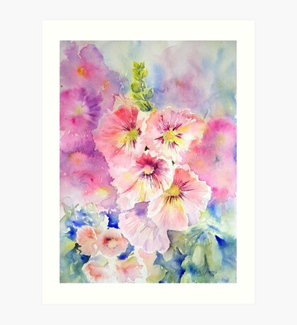 Cottage Garden Summer Art Print